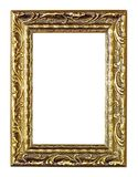 Golden vintage frame isolated on white background. Beautiful empty golden vintage frame isolated on white background Stock Photo