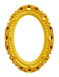 Golden vintage frame isolated on white Stock Photography