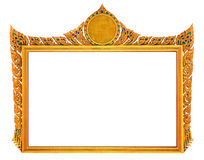 Golden vintage frame isolated Stock Photo