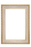 Golden vintage frame on white background Stock Image