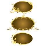 Golden vintage frames. Design elegant Royalty Free Stock Photography