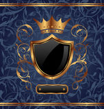 Golden vintage with heraldic elements Stock Photography