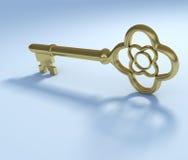 Golden vintage key Stock Image
