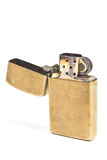 Golden vintage lighter Royalty Free Stock Images