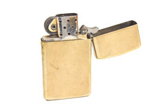 Golden vintage lighter Royalty Free Stock Photos
