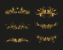 Golden Vintage Olive Design Elements Royalty Free Stock Photos