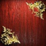 Golden vintage ornament Stock Image