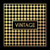 Golden vintage pattern on black background Royalty Free Stock Photography