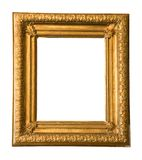 Golden vintage picture frame Royalty Free Stock Image