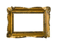 Golden vintage picture frame stock photos