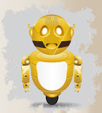 Golden vintage robot Royalty Free Stock Image