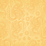 Golden vintage seamless texture for decor Royalty Free Stock Photo