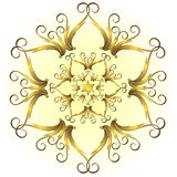 Golden vintage snowflake (vector) Stock Photos
