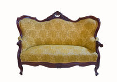 Golden vintage sofa Stock Photo