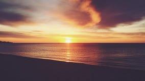Golden vintage sunset at Frankston beach. Stock Image