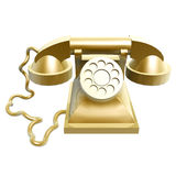 Golden vintage telephone Stock Image