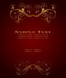 Golden vintage template Royalty Free Stock Photography