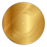 Golden vinyl record Royalty Free Stock Image