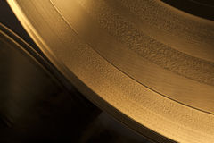 Golden Vinyl Record Royalty Free Stock Images