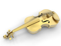 Golden violin illustration stock illustration