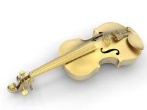 Golden violin illustration Royalty Free Stock Photos