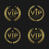 Golden VIP badges Royalty Free Stock Photos