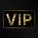Golden VIP card Royalty Free Stock Photography