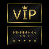 Golden VIP card Stock Image