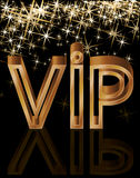 Golden VIP card Stock Images
