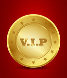Golden vip label Royalty Free Stock Images