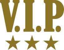 Golden VIP with golden stars Stock Images