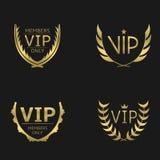 Golden VIP wreaths Stock Photography