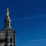 Golden Virgin Mary statue Royalty Free Stock Photography
