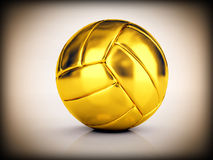 Golden volley ball. Image 3d of golden volley ball Royalty Free Stock Photos