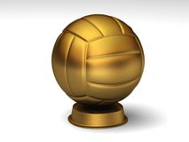 Golden volleyball trophy. Closeup on a golden volleyball trophy vector illustration