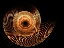 Golden vortex, spiral rotation Stock Photo