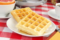 Golden waffles Royalty Free Stock Image
