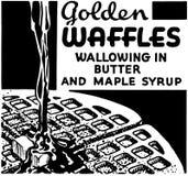 Golden Waffles Stock Image