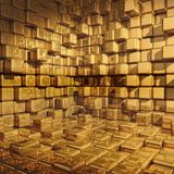 Golden wall Royalty Free Stock Image