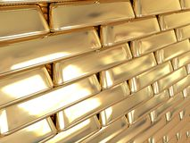 Golden wall. Gold, it makes the world go 'round Royalty Free Stock Photo