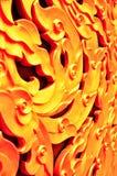 A golden wall  art. A beautiful thai scratch (kranok scratch Royalty Free Stock Photography