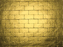 Golden wall background. 3d rendering golden wall background Royalty Free Stock Image