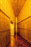 Golden wall in Botahtaung Pagoda,Yagon,Myanmar.  Stock Image
