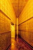 Golden wall in Botahtaung Pagoda,Yagon,Myanmar.  stock image