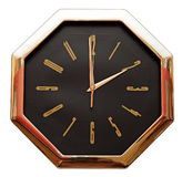 Golden wall clock Royalty Free Stock Photography