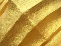 Golden wall. Curves texture Royalty Free Stock Photos