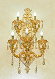 Golden wall sconces Stock Photo
