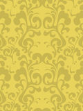 Golden wallpaper. A repeating background in tones of gold royalty free illustration