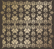 Golden wallpaper. On the brown background Royalty Free Stock Photo