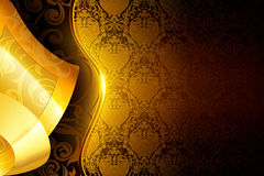 Golden wallpaper background Stock Photo